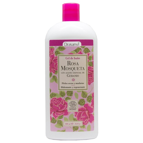 GEL BAÑO ROSA MOSQUETA 500 ML.